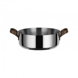 Low Casserole with Handles 5lt - Edo Steel - Alessi ALESSI ALESPU102/28