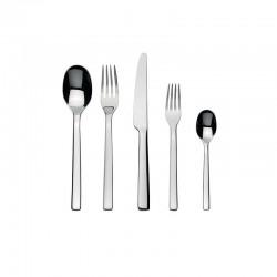 Cutlery Set 5 Pieces - Ovale Silver - Alessi ALESSI ALESREB09S5