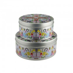 Set of 2 Boxes - Garybaldi Tin - Alessi