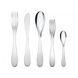 Cutlery Set 5 Pieces - Eat.It Silver - Alessi