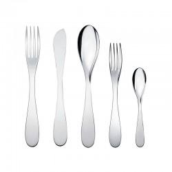 Servicio de Cubiertos 5 Piezas - Eat.It Plata - Alessi