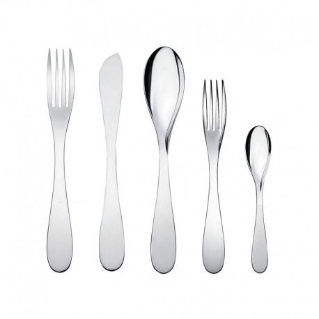 Servicio de Cubiertos 5 Piezas - Eat.It Plata - Alessi ALESSI ALESWA10S5
