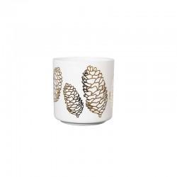 Linterna Pine Cones ø8,8cm - Xmas Blanco Y Dorado - Asa Selection