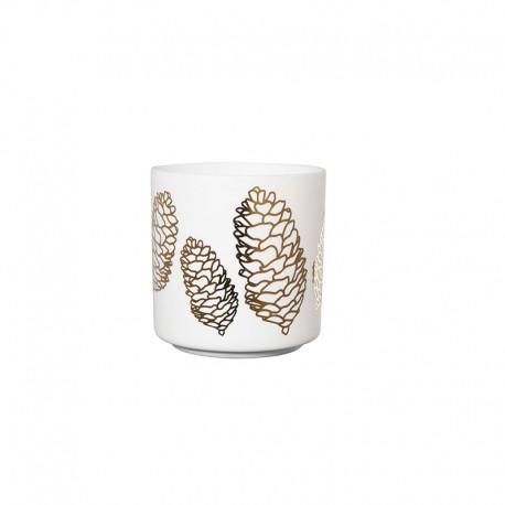 Linterna Pine Cones ø8,8cm - Xmas Blanco Y Dorado - Asa Selection ASA SELECTION ASA10131426