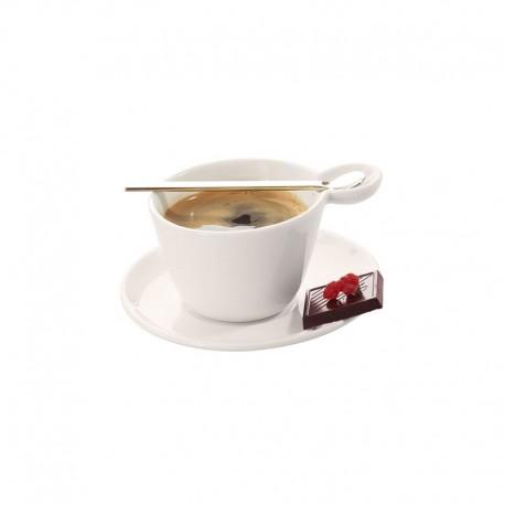 Taza Espresso Con Platillo Y Cuchara - Multicup Blanco - Asa Selection ASA SELECTION ASA10200017
