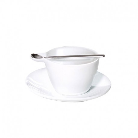 Cappuccino Cup With Saucer And Spoon - Multicup White - Asa Selection ASA SELECTION ASA10201017