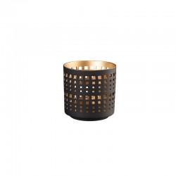 Linterna ø7cm - Windlichter Negro Y Dorado - Asa Selection