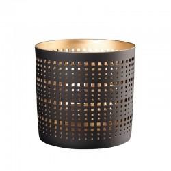 Linterna ø13cm - Windlichter Negro E Dorado - Asa Selection