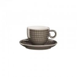 Chávena Espresso Com Pires - Voyage Cinza Escuro - Asa Selection