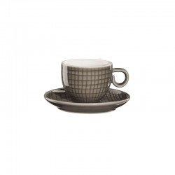 Espresso Cup With Saucer - Voyage Dark Grey - Asa Selection