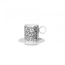 Set 2 Espresso Cups 'Strokes' - Memphis Black And White - Asa Selection ASA SELECTION ASA16012038