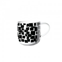 Mug Squares 400Ml - Coppa Black And White - Asa Selection