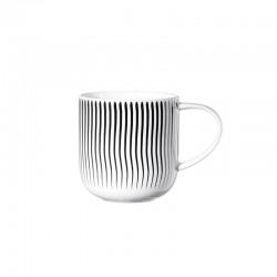 Mug Waves 400Ml - Coppa Black And White - Asa Selection