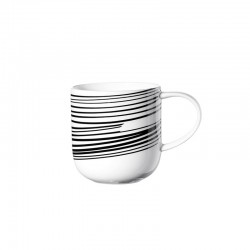 Mug Stripes 400Ml - Coppa Black And White - Asa Selection
