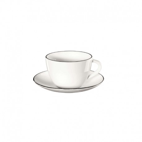 Coffee Cup With Saucer - Ligne Noire White - Asa Selection ASA SELECTION ASA1912113