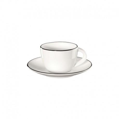 Taza Para Espresso Con Platillo - Ligne Noire Blanco - Asa Selection ASA SELECTION ASA1930113