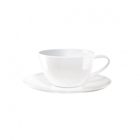 Café Au Lait Cup With Saucer - À Table White - Asa Selection ASA SELECTION ASA1965013
