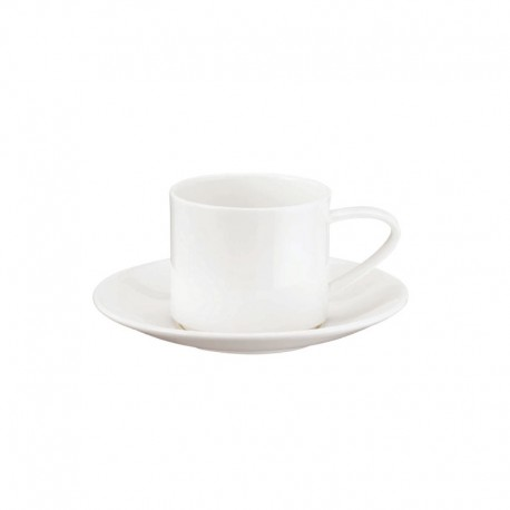 Taza Con Platillo Apilable - À Table Blanco - Asa Selection |Taza Con Platillo Apilable - À Table Blanco - Asa Selection