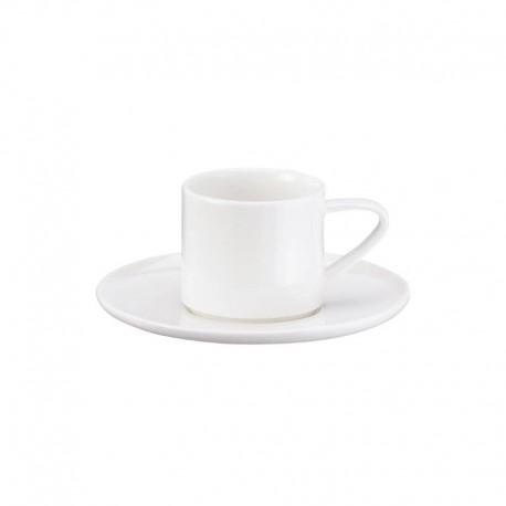 Chávena Espresso Com Pires Empilhável - À Table Branco - Asa Selection ASA SELECTION ASA1993013
