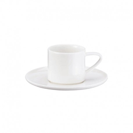 Espresso Cup With Saucer Stackable - À Table White - Asa Selection ASA SELECTION ASA1993013