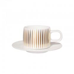 Chávena com Pires - Muga Trésor Branco E Dourado - Asa Selection ASA SELECTION ASA29062425