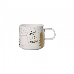 Christmas Mug - Muga Let it Snow White, Black And Gold - Asa Selection ASA SELECTION ASA29082690