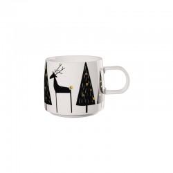 Christmas Mug - Muga Reindeer White, Black And Gold - Asa Selection ASA SELECTION ASA29086690