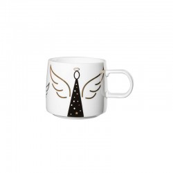 Christmas Mug - Muga Angel White, Black And Gold - Asa Selection ASA SELECTION ASA29090690