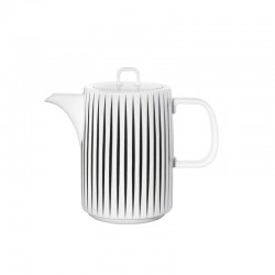 Coffee Pot Stripes - Muga Black And White - Asa Selection