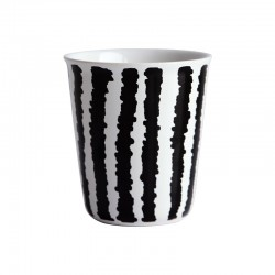 Espresso Cup Big Stripes Ø6,5Cm - Coppetta Black And White - Asa Selection