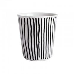 Copo Espresso Riscas Verticais Ø6,5Cm - Coppetta Branco E Preto - Asa Selection