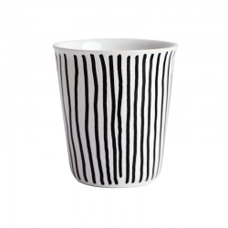 Espresso Cup Vertical Stripes Ø6,5Cm - Coppetta Black And White - Asa Selection
