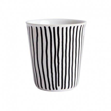 Espresso Cup Vertical Stripes Ø6,5Cm - Coppetta Black And White - Asa Selection ASA SELECTION ASA44003214