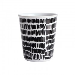 Espresso Cup Mini Stripes Ø6,5Cm - Coppetta Black And White - Asa Selection