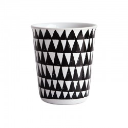 Espresso Cup Triangles Ø6,5Cm - Coppetta Black And White - Asa Selection