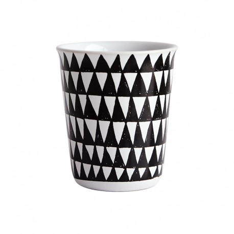 Espresso Cup Triangles Ø6,5Cm - Coppetta Black And White - Asa Selection ASA SELECTION ASA44005214