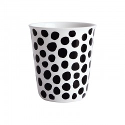 Espresso Cup Dots Ø6,5Cm - Coppetta Black And White - Asa Selection