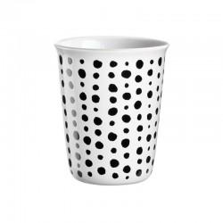 Taza Espreso Manchas Ø6,5Cm - Coppetta Blanco Y Negro - Asa Selection