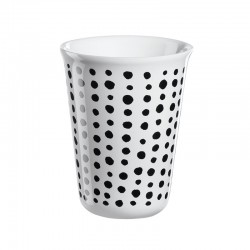 Cappuccino Cup Black Spots Ø8Cm - Coppetta Black And White - Asa Selection