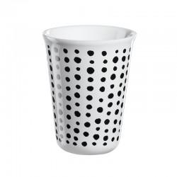Cappuccino Cup Black Spots Ø8Cm - Coppetta Black And White - Asa Selection
