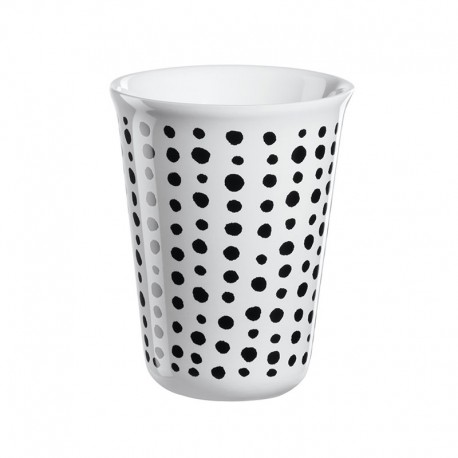 Cappuccino Cup Black Spots Ø8Cm - Coppetta Black And White - Asa Selection ASA SELECTION ASA44049214