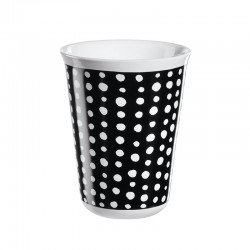 Cappuccino Cup White Spots Ø8Cm - Coppetta Black And White - Asa Selection