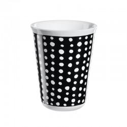 Cappuccino Cup White Spots Ø8Cm - Coppetta Black And White - Asa Selection