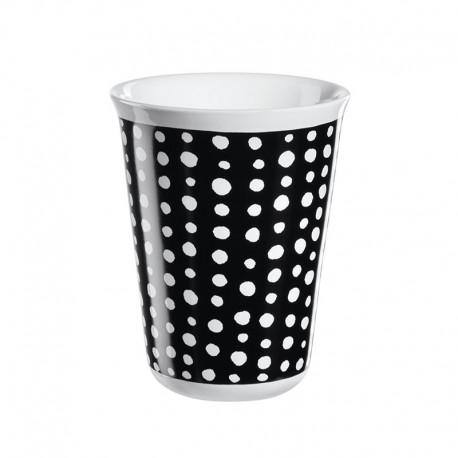 Cappuccino Cup White Spots Ø8Cm - Coppetta Black And White - Asa Selection ASA SELECTION ASA44050214
