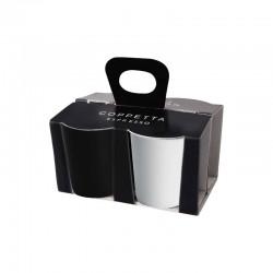 Set De 4 Tazas Expreso Blanco Y Negro - Asa Selection