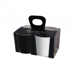 Set Of 4 Espresso Cups Black And White - Asa Selection