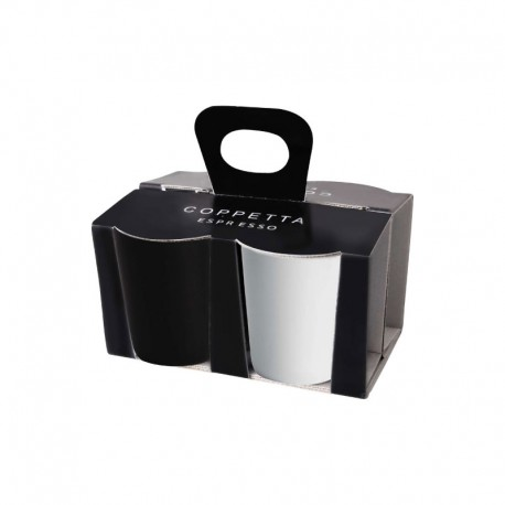 Set De 4 Tazas Espresso Blanco Y Negro - Asa Selection |Set De 4 Tazas Espresso Blanco Y Negro - Asa Selection