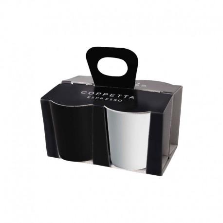 Set De 4 Tazas Expreso Blanco Y Negro - Asa Selection ASA SELECTION ASA44100214