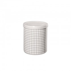 Jar Squares ø9,5cm - New Memphis White And Black - Asa Selection