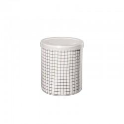 Jar Squares ø9,5cm - New Memphis White And Black - Asa Selection